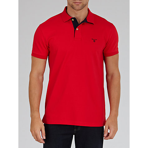 Buy Gant Contrast Collar Slim Fit Polo Shirt Online at johnlewis.com
