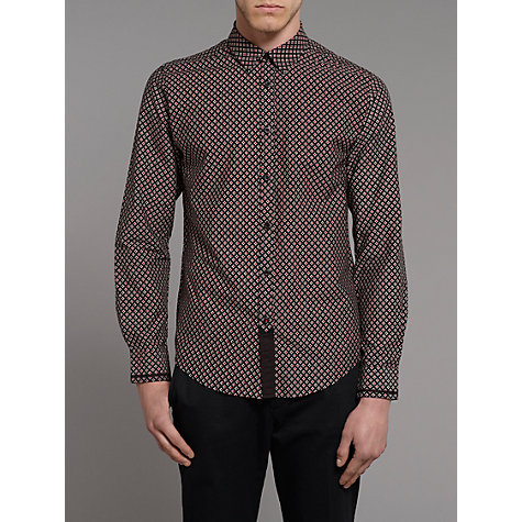 Buy Merc Geometric Print Shirt, Black Online at johnlewis.com