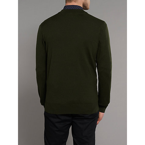 Buy Merc Harris Merino Wool Cardigan, Forest Green Online at johnlewis.com