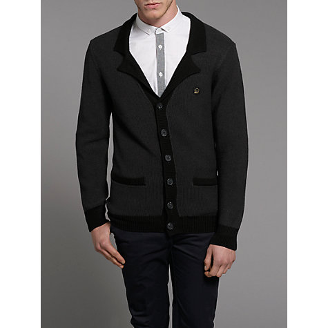 Buy Merc Jalopy Wool Blend Cardigan, Marl Chocolate Online at johnlewis.com