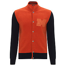 Buy Barbour Steve McQueen™ Collection Varsity Jacket, Orange Online at johnlewis.com