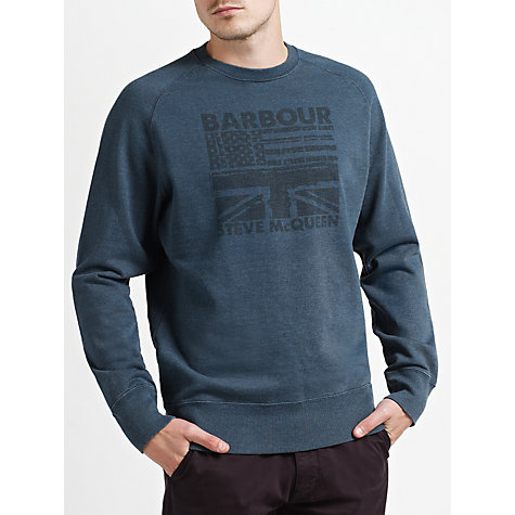 Buy Barbour International Steve McQueen™ Collection Flags Sweatshirt Online at johnlewis.com