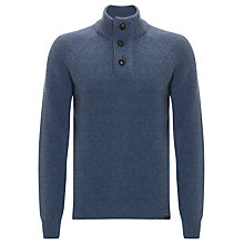 Buy Barbour Chelsea Button Neck Jumper, Denim Online at johnlewis.com