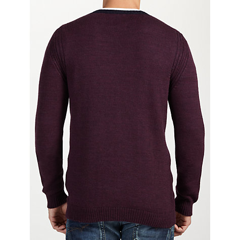 Buy Diesel Rib Detail V-Neck Jumper Online at johnlewis.com