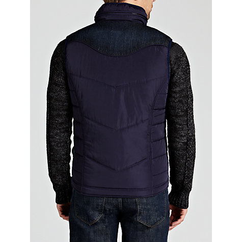 Buy Diesel Wemil Gilet, Navy Online at johnlewis.com