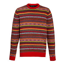 Buy Barbour Martingale Crew Neck Knit, Red Online at johnlewis.com