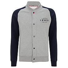 Buy Barbour Steve McQueen™ Collection Cadet Baseball Jacket, Grey Online at johnlewis.com