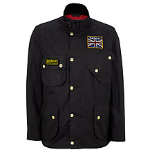 Buy Barbour International Union Jack Detail Waxed Jacket Online at johnlewis.com