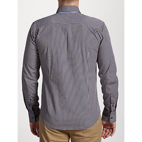 Buy Hilfiger Denim Sabim Long Sleeve Check Shirt, Blue Online at johnlewis.com