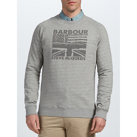 Buy Barbour Steve McQueen™ Collection Flags Crew Neck Jumper Online at johnlewis.com