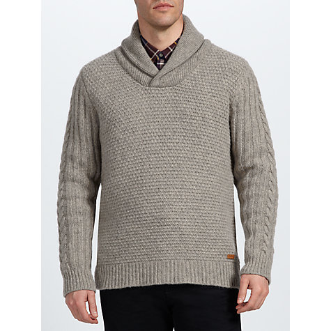 Buy Barbour Cotton Cashmere Shawl Collar Jumper Online at johnlewis.com