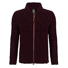 Buy Diesel K-Idra Zip-Up Jumper, Maroon Online at johnlewis.com