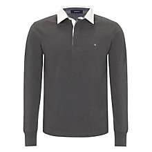 Buy Gant Solid Heavy Rugger Rugby Shirt Online at johnlewis.com