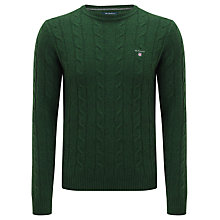 Buy Gant Lambswool Cable Crew Neck Jumper Online at johnlewis.com