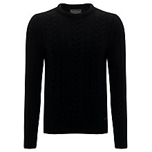 Buy Barbour Cotton Cashmere Cable Knit Jumper Online at johnlewis.com