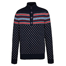 Buy Gant Lambswool Mock Neck Jumper, Navy Online at johnlewis.com