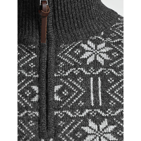 Buy Gant Lambswool Jacquard Zip Neck Jumper Online at johnlewis.com