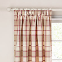Buy John Lewis Marlow Check Lined Pencil Pleat Curtains Online at johnlewis.com