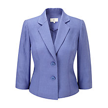 Buy CC Stitch Detail Linen Jacket, Iris Online at johnlewis.com