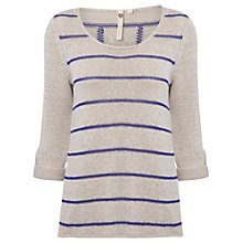 Buy White Stuff Summer Stripe Jumper, Komono Purple Online at johnlewis.com