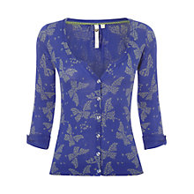 Buy White Stuff Zen Cardigan, Komono Purple Online at johnlewis.com