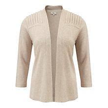 Buy CC Pleated Shoulder Cardigan, Natural Online at johnlewis.com