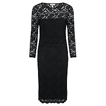 Buy Somerset by Alice Temperley Lace Pencil Dress, Black Online at johnlewis.com