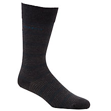 Buy Hugo Boss Multi Striped Socks, Pack Of 2, Grey Online at johnlewis.com