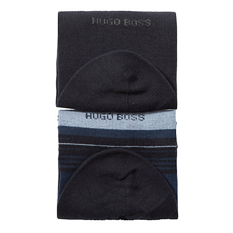 Buy Hugo Boss Cotton Combed Socks, Pack of 2 Online at johnlewis.com