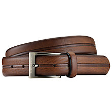 Buy Ted Baker Picent Stripe Leather Belt Online at johnlewis.com