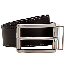 Buy Ted Bream Casual Leather Belt, Black/Brown Online at johnlewis.com