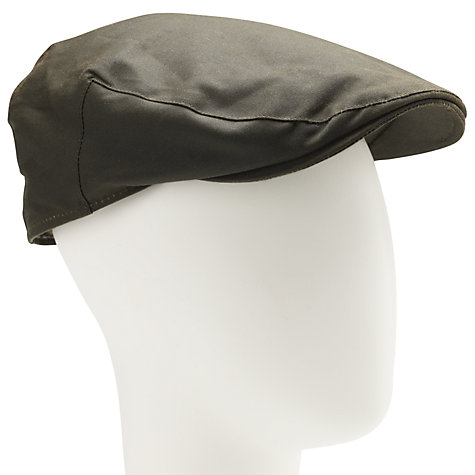 Buy John Lewis Wax Flat Cap, Khaki Online at johnlewis.com
