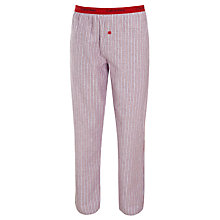 Buy Calvin Klein Flannel Striped Pyjama Pants, Red Online at johnlewis.com