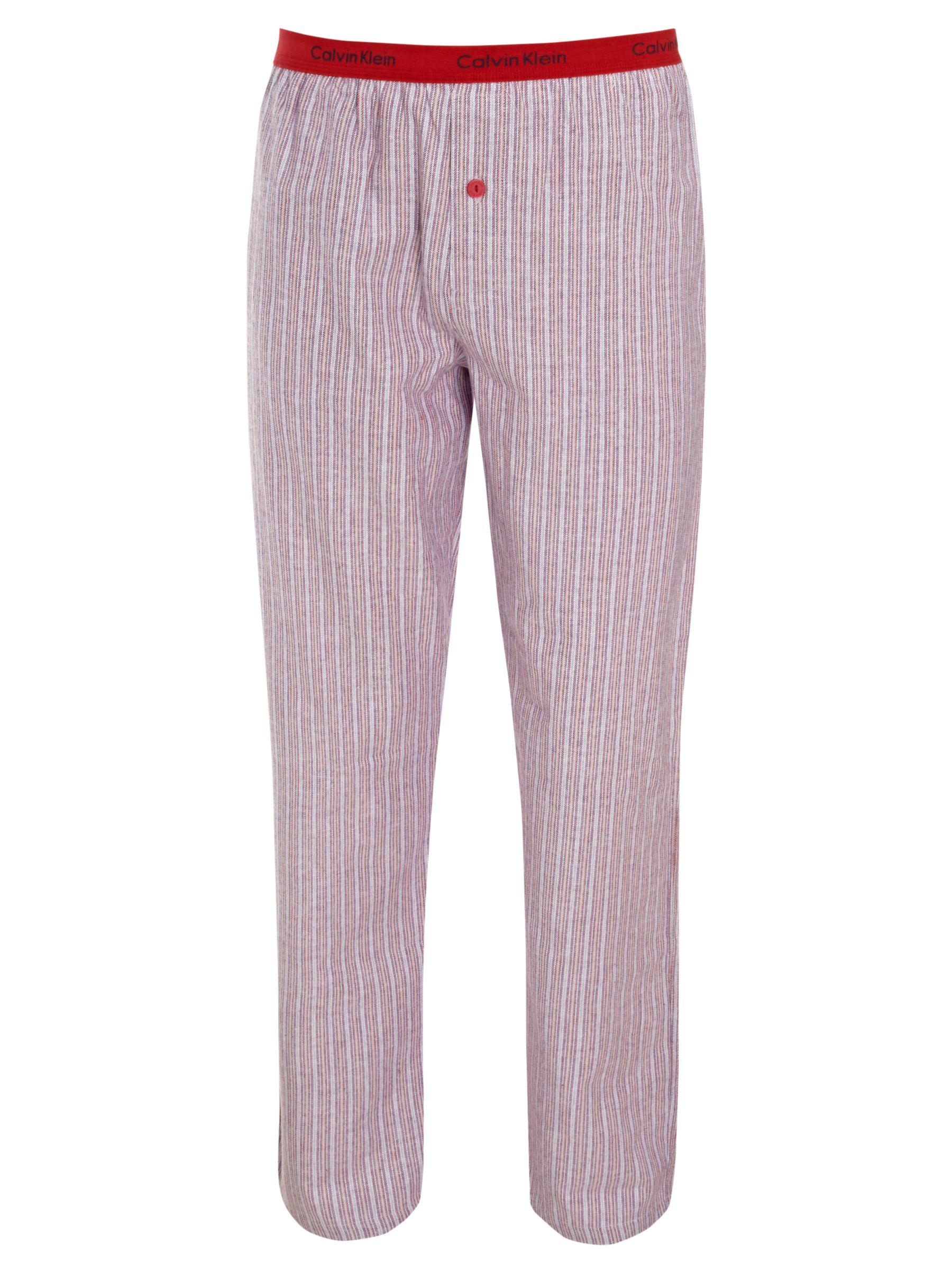 Calvin Klein Flannel Striped Pyjama Pants, Red