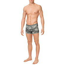 Buy Calvin Klein Underwear Camo Cotton Boxer Trunks, Grey Online at johnlewis.com
