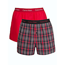 Buy Calvin Klein Underwear Holiday Woven Trunks, Red Online at johnlewis.com