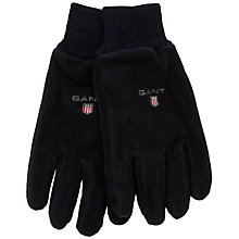 Buy Gant Knitted Cuff Fleece Gloves, Navy Online at johnlewis.com