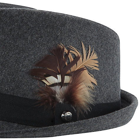 Buy Ted Baker Flecked Cord Trilby Hat, Grey Online at johnlewis.com