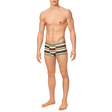 Buy Calvin Klein Underwear Striped Cotton Boxer Trunks, Multi Online at johnlewis.com