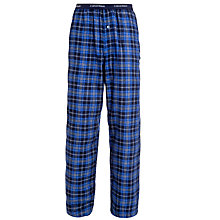 Buy Calvin Klein Flannel Check Pyjama Bottoms, Blue Online at johnlewis.com