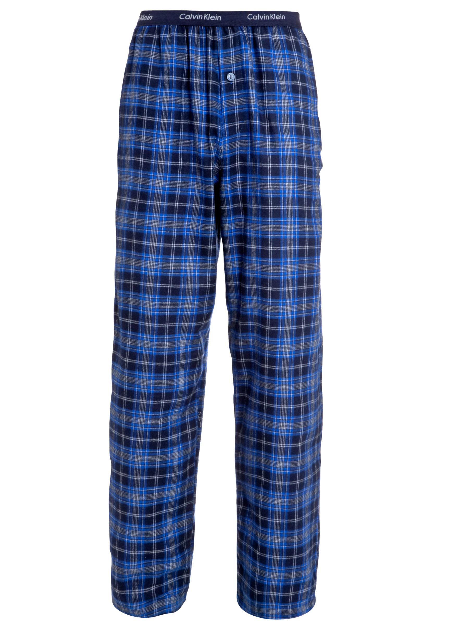 Calvin Klein Flannel Check Pyjama Bottoms, Blue