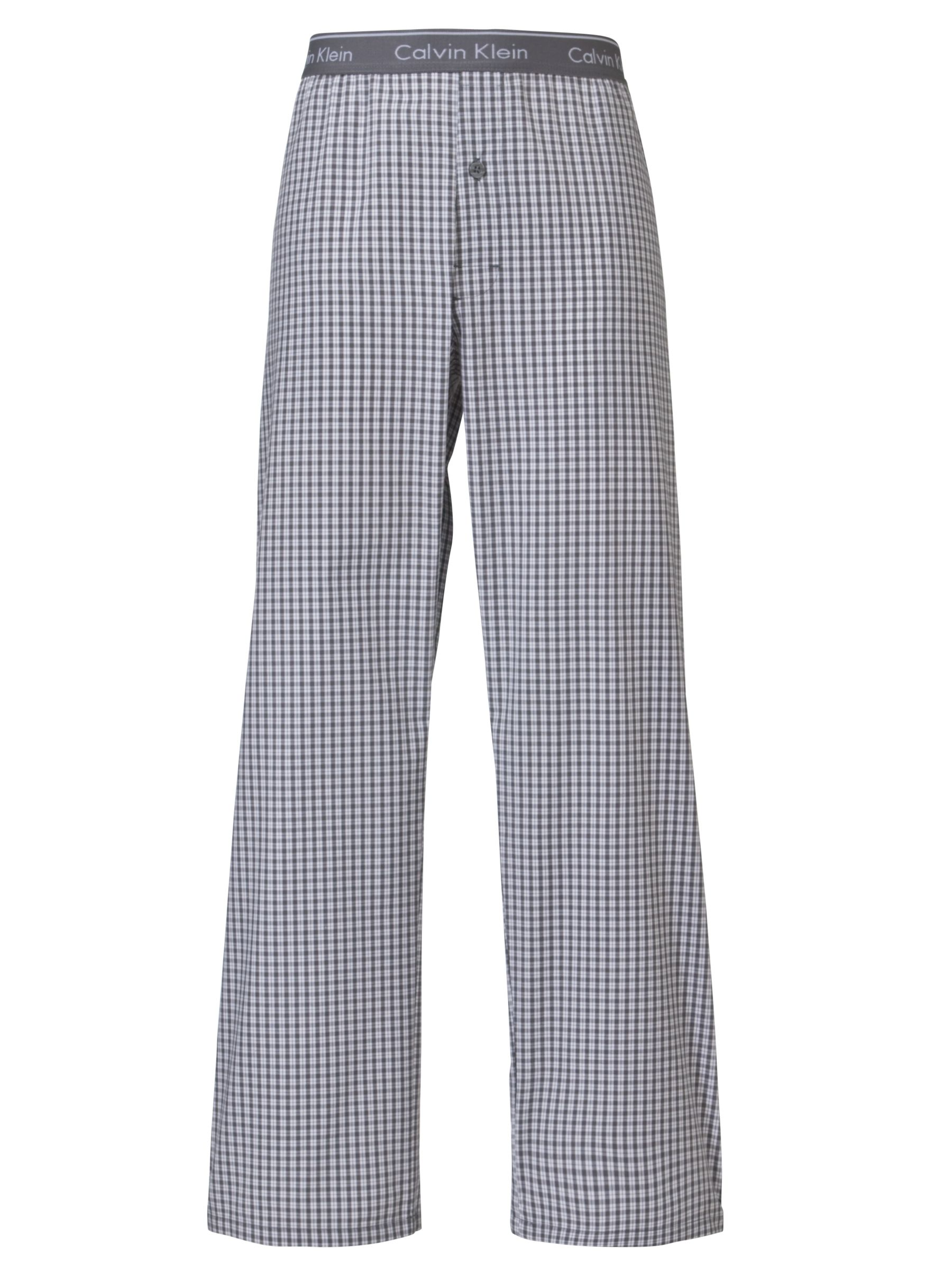 Calvin Klein Woven Check Print Pyjama Trousers, Red