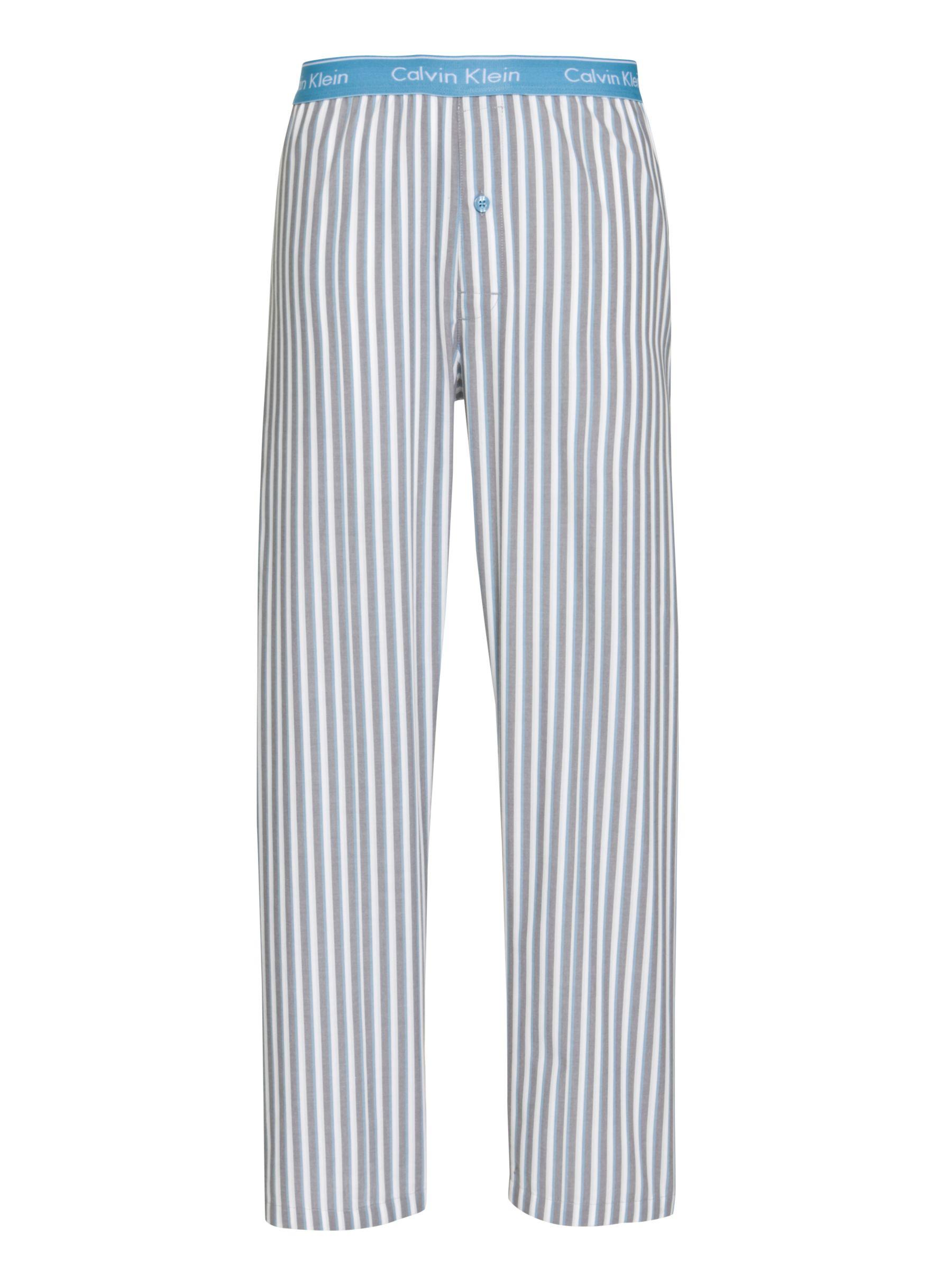 Calvin Klein Woven Striped Pyjama Trousers, Grey