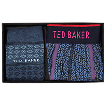 Buy Ted Baker Geometric Socks and Boxer Set, Navy Online at johnlewis.com