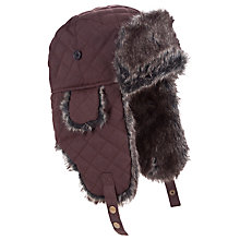 Buy John Lewis Quilted Trapper Hat, Brown Online at johnlewis.com