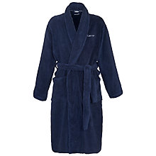 Buy Calvin Klein Cotton Robe, Navy Online at johnlewis.com