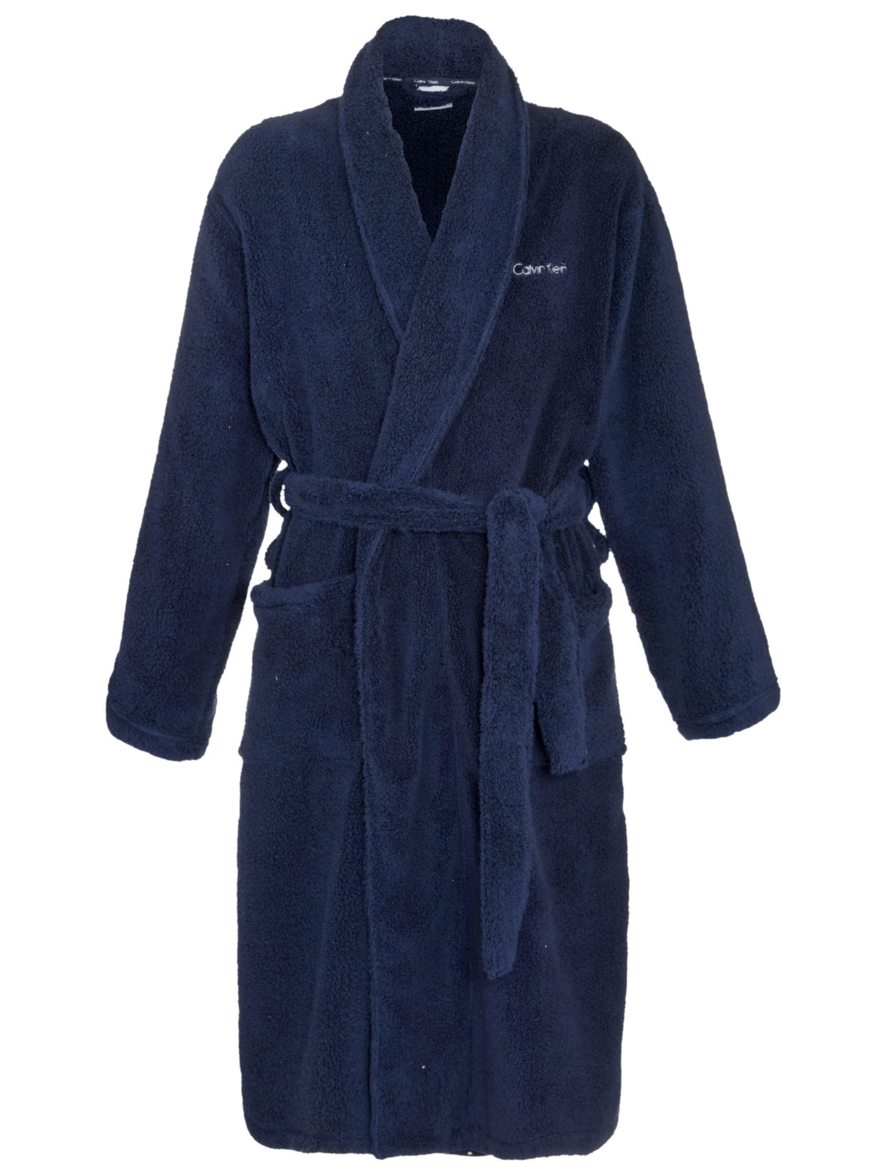 Calvin Klein Cotton Robe, Navy