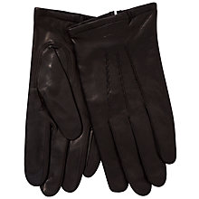 Buy Gant Touchscreen Leather Gloves, Black Online at johnlewis.com