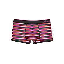 Buy Calvin Klein Underwear Striped Micro Trunks, Pink/Multi Online at johnlewis.com