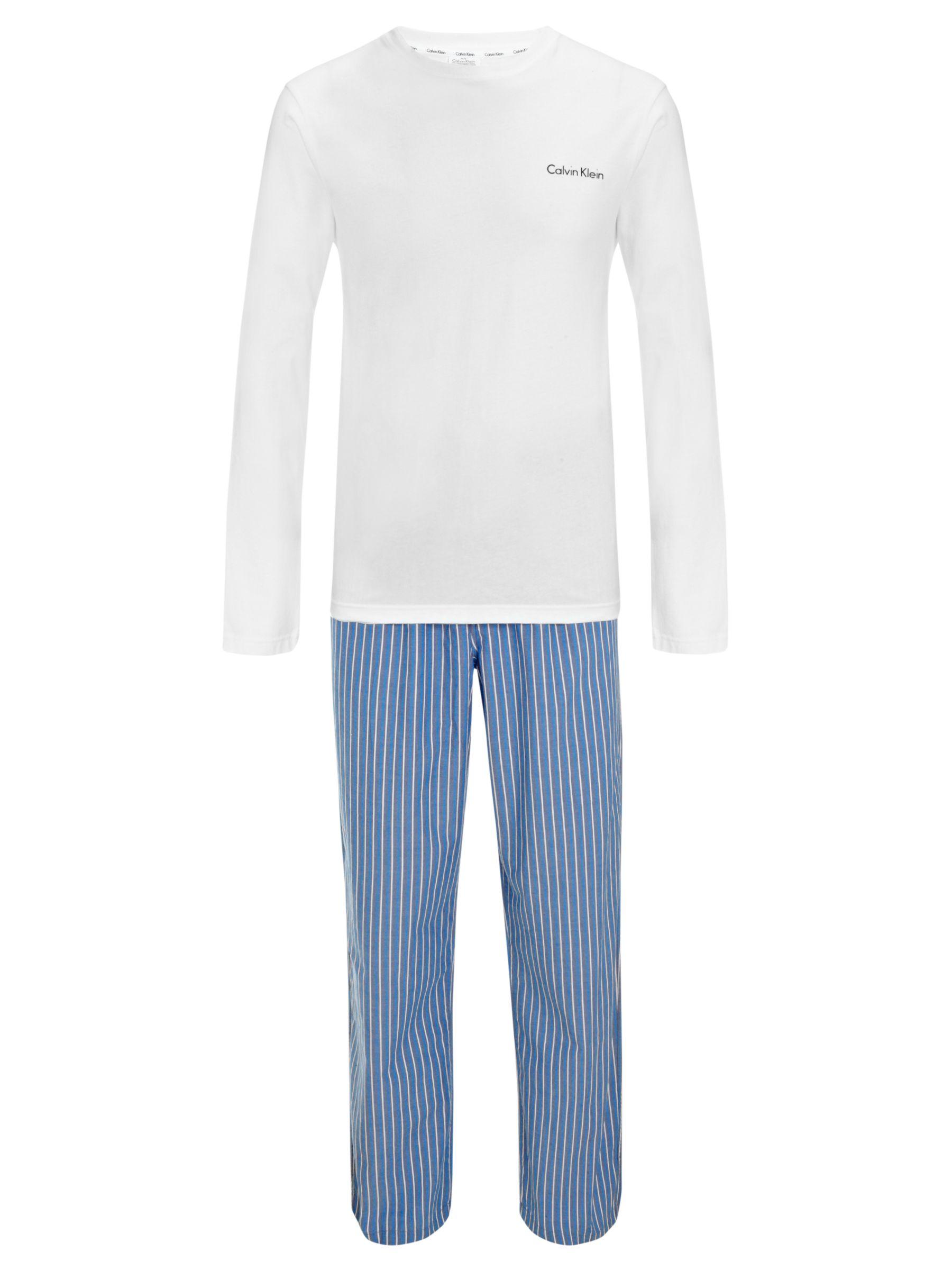 Calvin Klein Holiday Pyjama Set, Blue/White